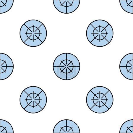 Hunting flat icon pattern