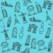 World landmarks pattern