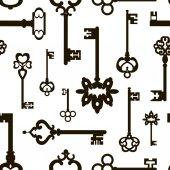 Ornamental medieval vintage keys pattern