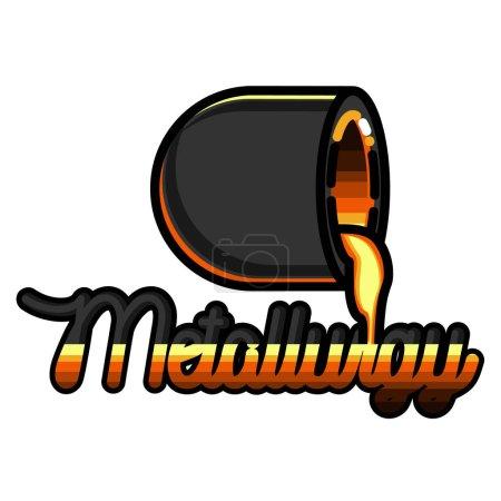 Color vintage Metallurgy emblem
