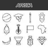 Set of african ethnic style icons Vector illustration EPS 10