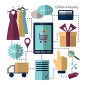 Online shopping set Vector illustration EPS 10