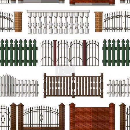 Set of gates and fences pattern
