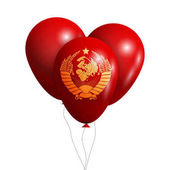Balloons wish Coat of Arms of Soviet Union Isolated on white transparent background Vector illustration eps 10