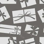 Gift cards with bows vector set pattern