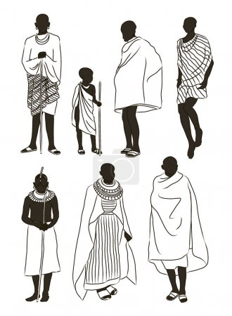 Maasai couple african people