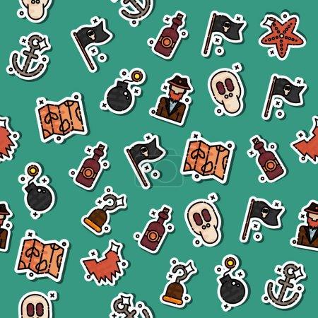 Colored piracy pattern