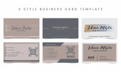 Business Card 3 Style Templates Bundle Corporate Identity Template
