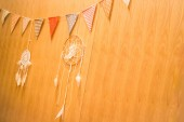 Multi Colored Triangle Flags Hanging Indoor Party