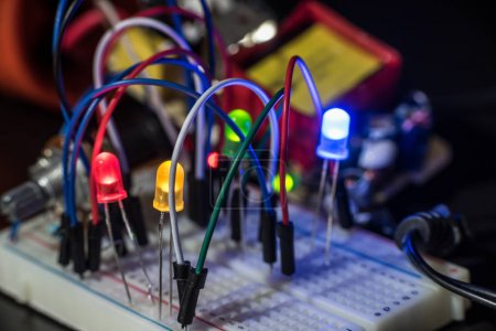 luminous LEDs and electronic components