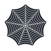 Image of Spider web vector illustration isolated on white background