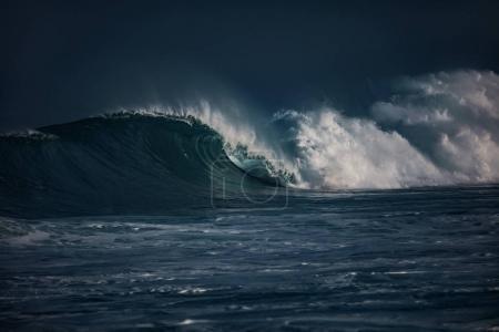 Ocean wave. Storm waves in sea water