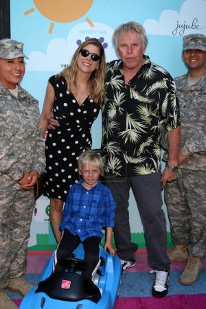 Photo for Gary Busey actor, his family and soldiers at the 5th Annual Red Carpet Safety Awareness Event, Sony Picture Studios, Culver City, CA 09-24-16 - Royalty Free Image
