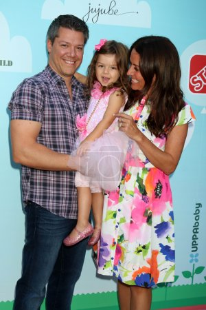 Photo for Jonathan Nassos surgeon, Alianna Marika Nassos daughter, Jenni Pulos actress at the 5th Annual Red Carpet Safety Awareness Event, Sony Picture Studios, Culver City, CA 09-24-16 - Royalty Free Image