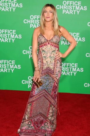 Photo for Actress Jennifer Aniston at the Office Christmas Party Premiere, Village Theater, Westwood, CA 12-07-16 - Royalty Free Image