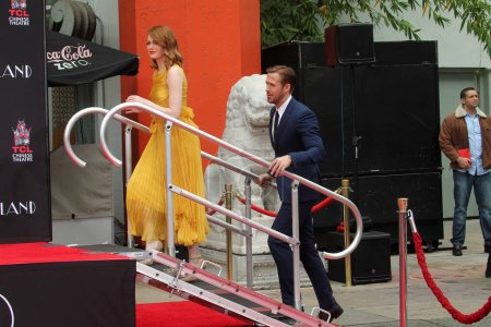 Photo for Emma Stone, Ryan Gosling at the Emma Stone and Ryan Gosling Hand and Foot Print Ceremony, TCL Chinese Theater, Hollywood, CA 12-07-16 - Royalty Free Image
