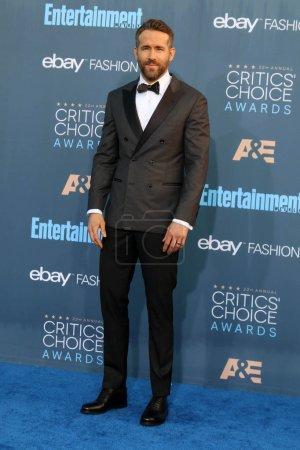 Photo for Actor Ryan Reynolds at the 22nd Annual Critics Choice Awards, Barker Hanger, Santa Monica, CA 12-11-16 - Royalty Free Image