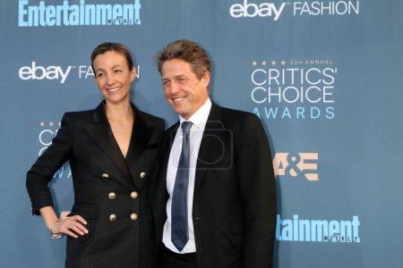 Anna Elisabet Eberstein with Hugh Grant