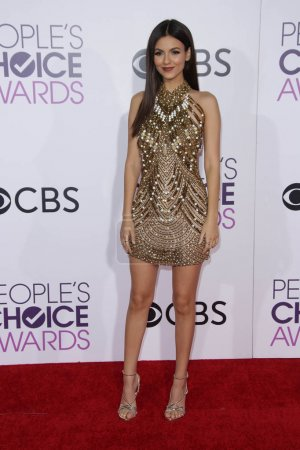 Photo for Actress Victoria Justice at 42nd Annual Peoples Choice Awards Arrivals at Microsoft Theater, Los Angeles, CA 01-18-17 - Royalty Free Image