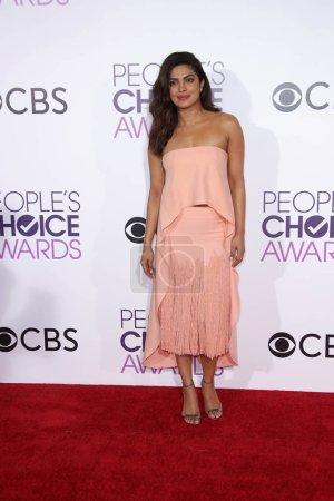Photo for Model Priyanka Chopra at 42nd Annual Peoples Choice Awards Arrivals at Microsoft Theater, Los Angeles, CA 01-18-17 - Royalty Free Image