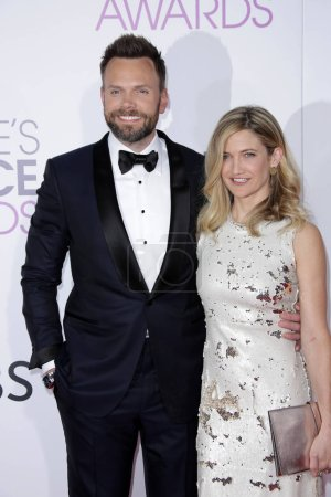 Photo for Comedian Joel McHale and guest at 42nd Annual Peoples Choice Awards Arrivals at Microsoft Theater, Los Angeles, CA 01-18-17 - Royalty Free Image