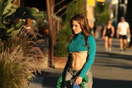 Erika Jordan at the street