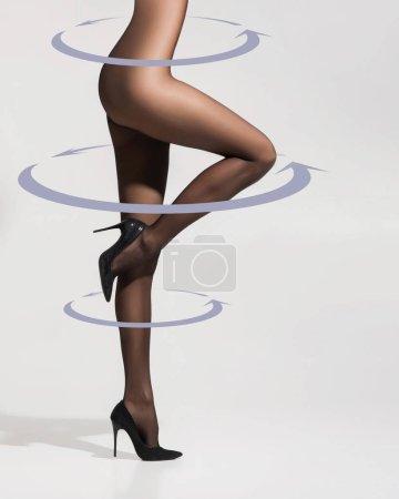 Beautiful slim woman in pantyhose