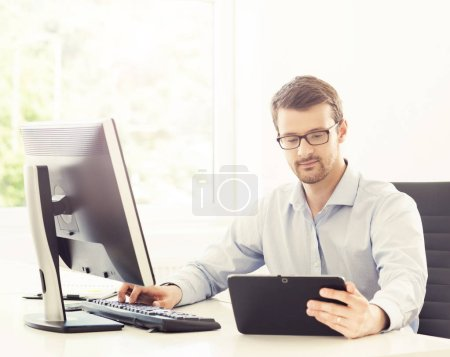 Businessman at work in office