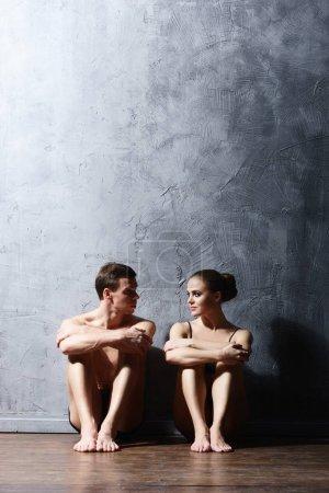 Ballet dancers in art performance