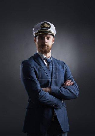 portrait of handsome skipper