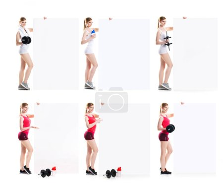 Fit and sporty woman exercising