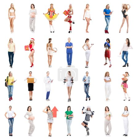 many women collage