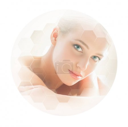 Beautiful and healthy blond woman getting massage treatment in beauty salon. Spa and healthcare concept.