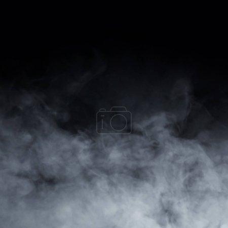 Photo pour Texture fumée sur fond noir. Motif abstrait . - image libre de droit