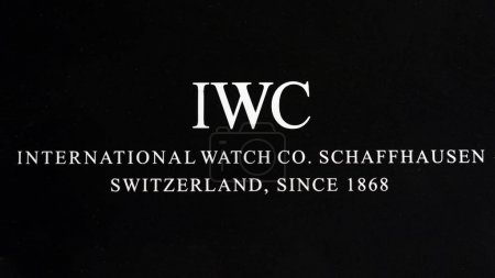 BOLOGNA, ITALY - MARCH 8, 2018: International Watch Co. logo. IWC is a luxury Swiss watch manufacturer located in Schaffhausen, Switzerland, founded in 1868. Illustrative editorial.