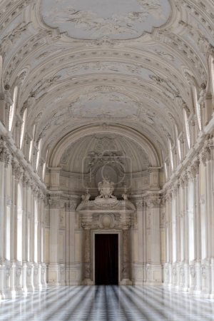 TURIN, ITALY - CIRCA FEBRUARY, 2018: Diana Gallery in Venaria Royal Palace - Reggia Venaria. It was the former royal residence of the Savoy family.
