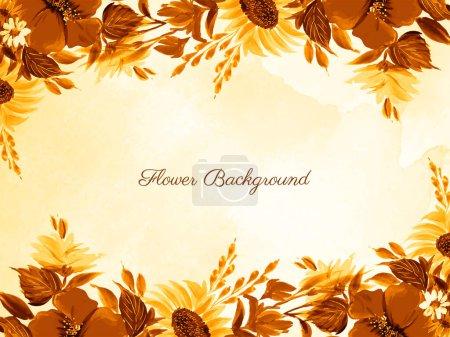 Illustration pour Abstrait beautful main drwan fleur fond vecteur - image libre de droit