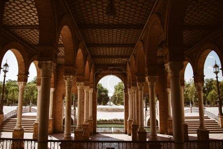 Seville Plaza de Espana in Andalusia Spain