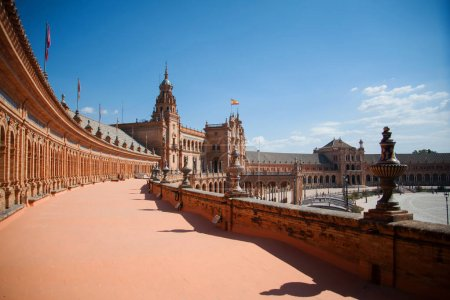 Photo for Seville Plaza de Espana in Andalusia, Spain square Sevilla - Royalty Free Image