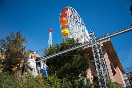 Ferris-wheel in the Amusement Park on Mountain Tibidabo in Barce