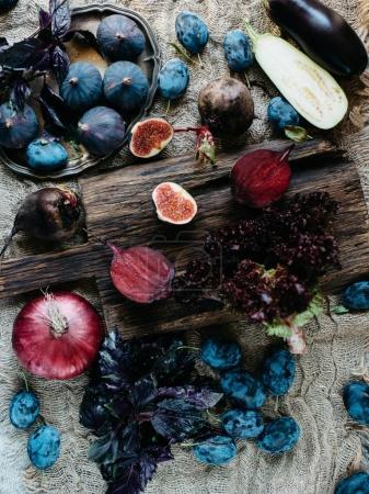 Blue and Purple ingredients