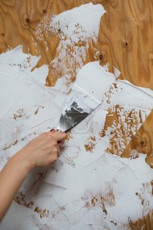 Worker making repair