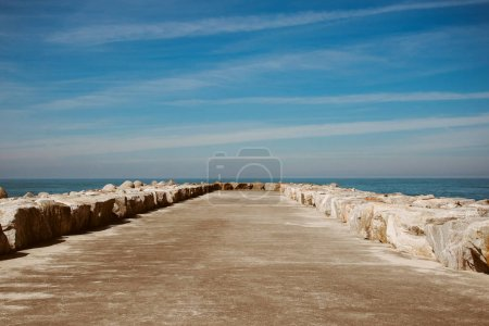 View to the Atlantic Ocean from empty pier