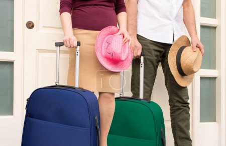 The couple is ready to the vacations