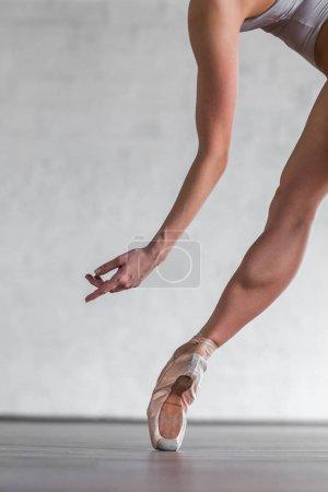 woman dancer posing in studio