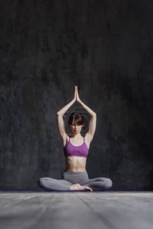 beautiful yoga woman