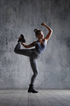 Young beautiful fitness female