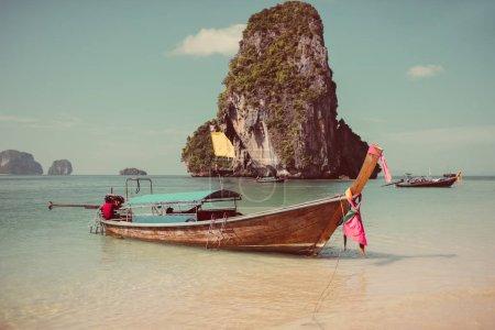 Boat on the beach ins Krabi
