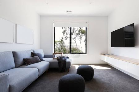 Modern living tv room