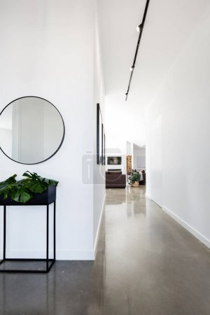 Contemporary new home entry